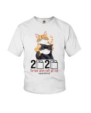 Cat 2020 The Year When Shit Got Real  Youth T-Shirt thumbnail