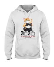 Cat 2020 The Year When Shit Got Real  Hooded Sweatshirt thumbnail
