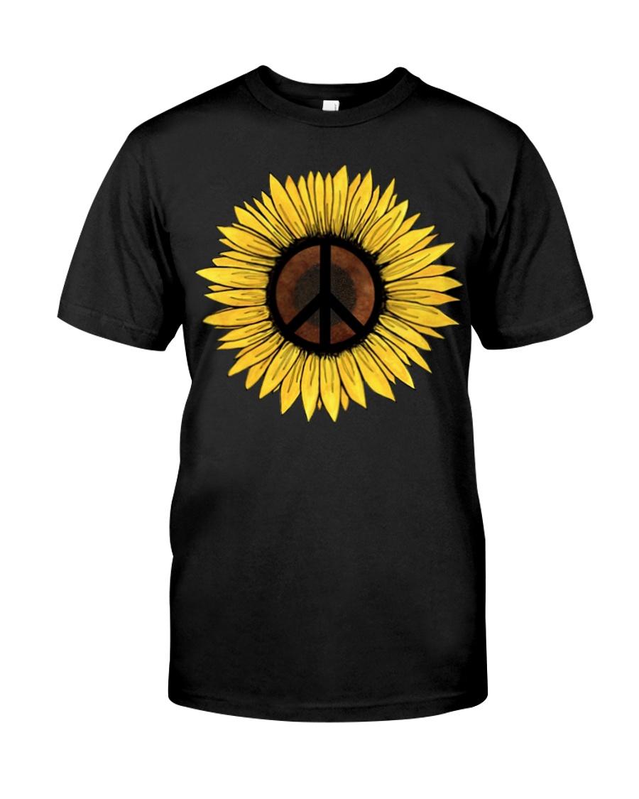 Hippie Sunflower Peace Classic T-Shirt