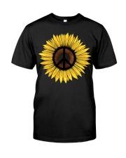 Hippie Sunflower Peace Classic T-Shirt front