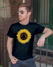 Hippie Sunflower Peace Classic T-Shirt lifestyle-mens-crewneck-front-2