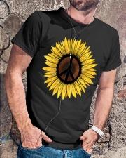 Hippie Sunflower Peace Classic T-Shirt lifestyle-mens-crewneck-front-4