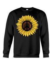 Hippie Sunflower Peace Crewneck Sweatshirt thumbnail