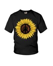 Hippie Sunflower Peace Youth T-Shirt thumbnail