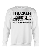 Trucker 2020 not quarantined  Crewneck Sweatshirt tile