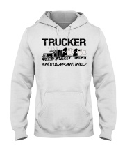 Trucker 2020 not quarantined  Hooded Sweatshirt thumbnail