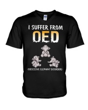 I Suffer From OED Obsessive Elephant Disorder V-Neck T-Shirt thumbnail