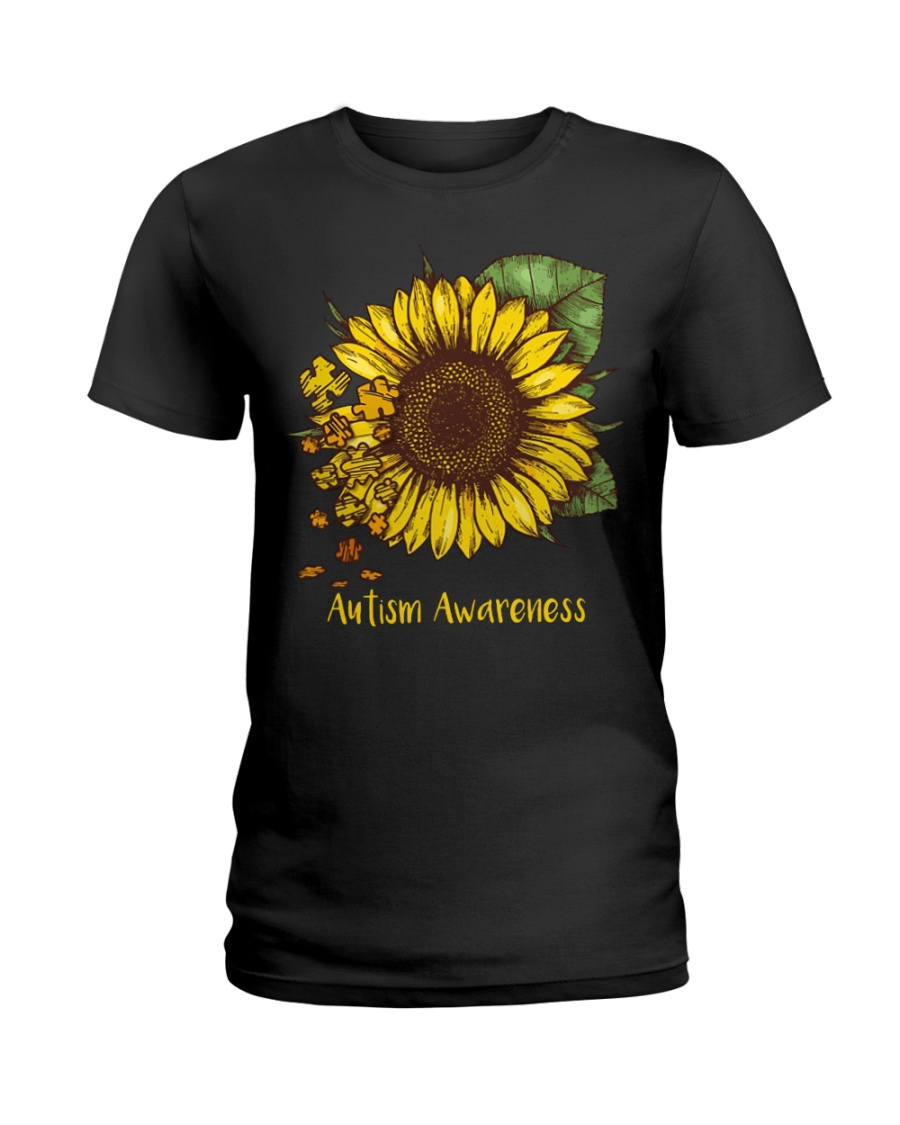 Sunflower autism awareness Ladies T-Shirt