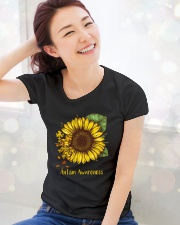 Sunflower autism awareness Ladies T-Shirt lifestyle-holiday-womenscrewneck-front-1