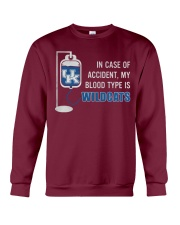 In case of accident my blood type is wildcats Crewneck Sweatshirt thumbnail