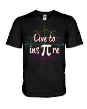 live to ins pi V-Neck T-Shirt thumbnail