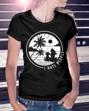 Dog and girl I hate people Ladies T-Shirt lifestyle-women-crewneck-front-7