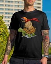 Sloth riding a turtle Classic T-Shirt lifestyle-mens-crewneck-front-8