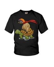 Sloth riding a turtle Youth T-Shirt thumbnail