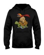 Sloth riding a turtle Hooded Sweatshirt thumbnail