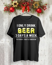 I only drink beer 3 days a week Premium Fit Mens Tee lifestyle-holiday-crewneck-front-2