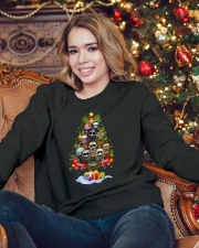 Horror character Christmas tree Crewneck Sweatshirt lifestyle-holiday-sweater-front-3