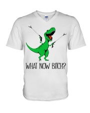 Dragon what now bitch  V-Neck T-Shirt tile