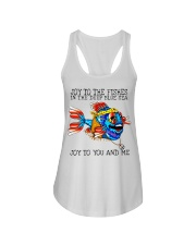 Joy to the fishes in the deep blue sea joy to you  Ladies Flowy Tank thumbnail