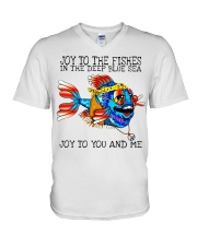 Joy to the fishes in the deep blue sea joy to you  V-Neck T-Shirt thumbnail