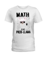 Math is no prob-llama Ladies T-Shirt thumbnail