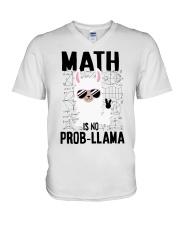 Math is no prob-llama V-Neck T-Shirt thumbnail