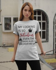 my cooking is so fabulous even the smoke alarms ch Classic T-Shirt apparel-classic-tshirt-lifestyle-19
