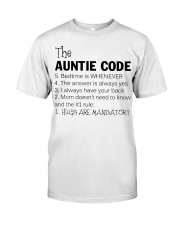 The auntie code Classic T-Shirt front