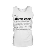 The auntie code Unisex Tank thumbnail
