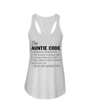 The auntie code Ladies Flowy Tank thumbnail