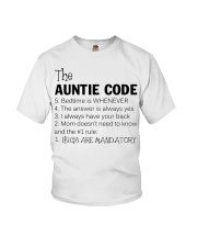 The auntie code Youth T-Shirt thumbnail