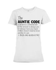 The auntie code Premium Fit Ladies Tee thumbnail