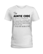 The auntie code Ladies T-Shirt thumbnail