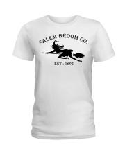 salem broom co est 1692 Ladies T-Shirt thumbnail