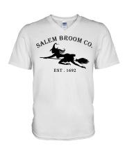 salem broom co est 1692 V-Neck T-Shirt thumbnail