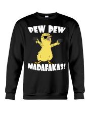Pew Pew Madafakas Crazy Chick Crewneck Sweatshirt thumbnail