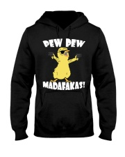Pew Pew Madafakas Crazy Chick Hooded Sweatshirt thumbnail