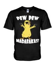 Pew Pew Madafakas Crazy Chick V-Neck T-Shirt thumbnail