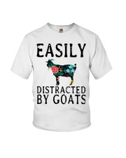 Cow easily distracted by goats Youth T-Shirt thumbnail