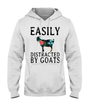Cow easily distracted by goats Hooded Sweatshirt thumbnail