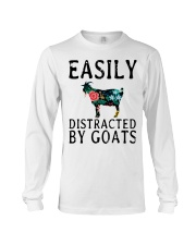 Cow easily distracted by goats Long Sleeve Tee thumbnail