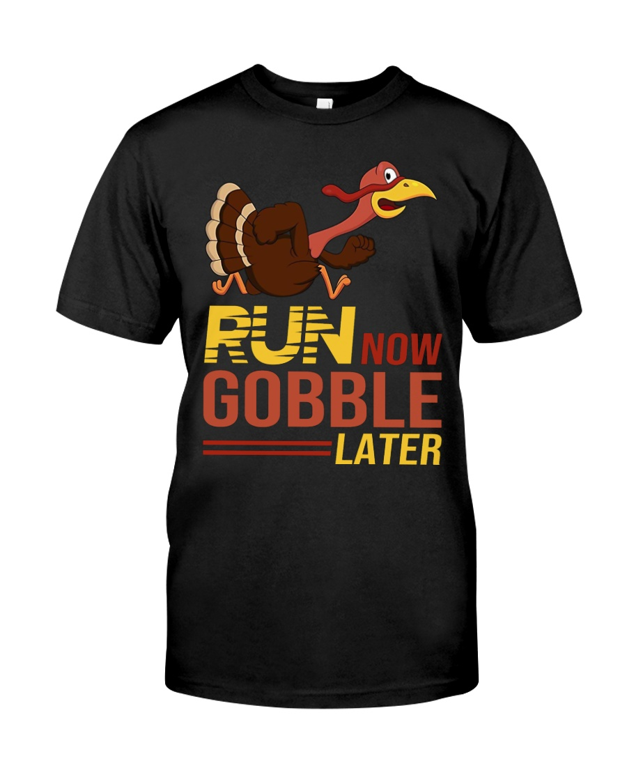 Run now gobble later Premium Fit Mens Tee