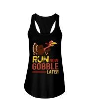 Run now gobble later Ladies Flowy Tank thumbnail