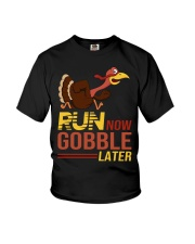 Run now gobble later Youth T-Shirt thumbnail