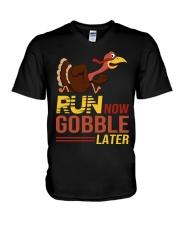 Run now gobble later V-Neck T-Shirt thumbnail