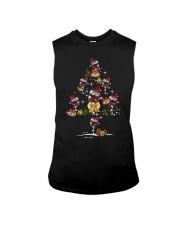 Wine glass Christmas tree  Sleeveless Tee thumbnail