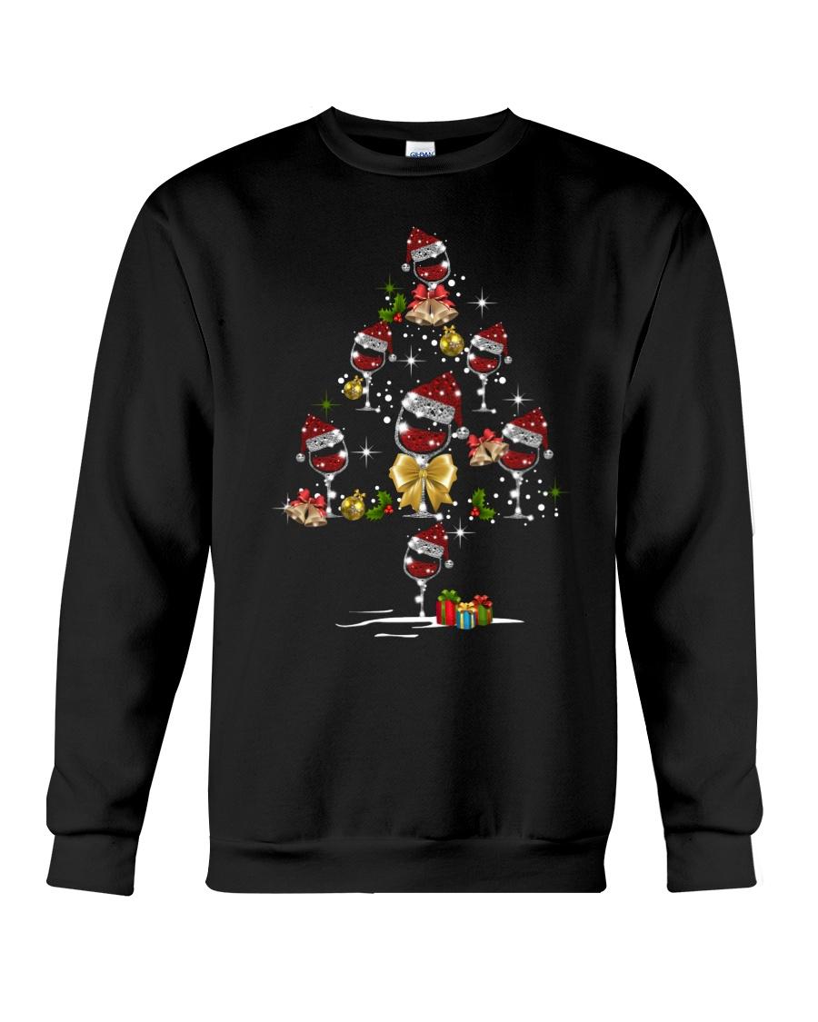 Wine glass Christmas tree  Crewneck Sweatshirt