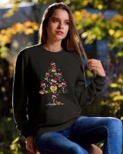 Wine glass Christmas tree  Crewneck Sweatshirt lifestyle-unisex-sweatshirt-front-6