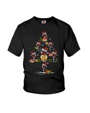 Wine glass Christmas tree  Youth T-Shirt thumbnail