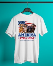 Dachshund america 4th of july independence day Classic T-Shirt lifestyle-mens-crewneck-front-3